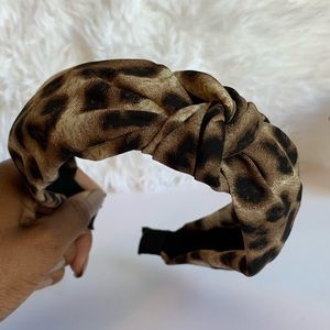 Leopard Print Turban Style Headband
